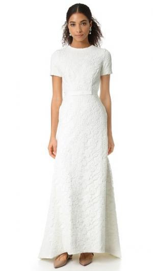 Вечернее платье White Roses Self Portrait. Цвет: белый