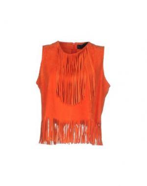 Топ без рукавов ENES. Цвет: оранжевый