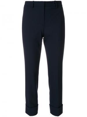 Укороченные брюки Theory. Цвет: синий