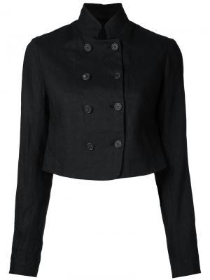 Двубортный укороченный пиджак Forme Dexpression D'expression. Цвет: чёрный