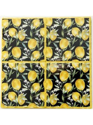 Декоративная подставка Magic Home. Цвет: черный, желтый