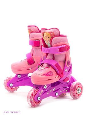 Ролики раздвижные Barbie. Цвет: розовый