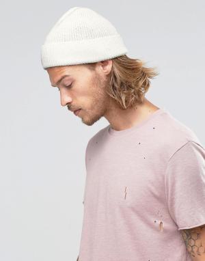 ASOS Белая шапки-бини. Цвет: белый