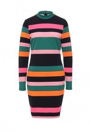 Платье Noisy May. Цвет: разноцветный