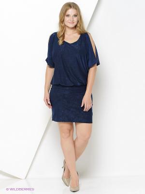 Платье Lina. Цвет: темно-синий