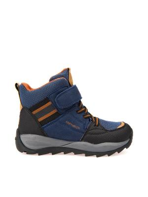 Ботинки GEOX. Цвет: синий, оранжевый