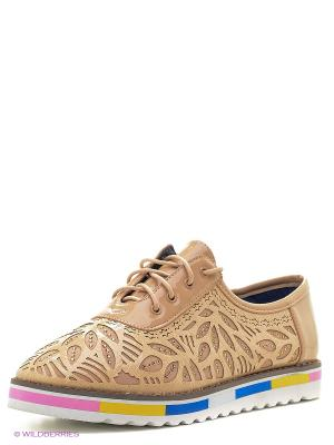 Ботинки Camidy. Цвет: бежевый