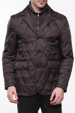 Куртка с застежкой на молнию и пуговицы Otto Kern. Цвет: коричневый