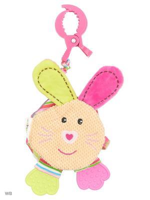 Подвеска-книжка с шуршалкой Зайка Полли Жирафики. Цвет: розовый, салатовый, бежевый