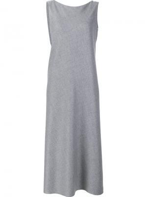 V-neck dress Peter Cohen. Цвет: серый