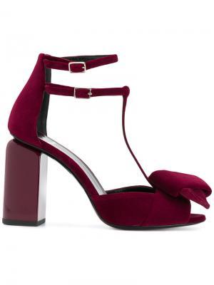 Туфли с ремешками на щиколотке Pierre Hardy. Цвет: красный