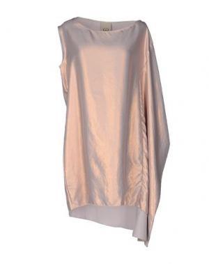Короткое платье JIJIL. Цвет: телесный