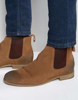 Dead Vintage Светло-коричневые замшевые ботинки челси. Цвет: рыжий