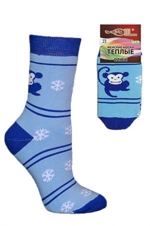 Носки женские Totall. Цвет: голубой, джинс