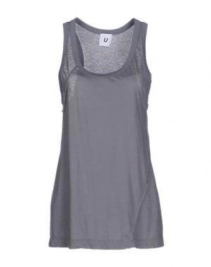 Майка U CLOTHING. Цвет: серый