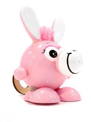 Игрушка подвеска на пружине - Ослик розовый Taowa. Цвет: розовый