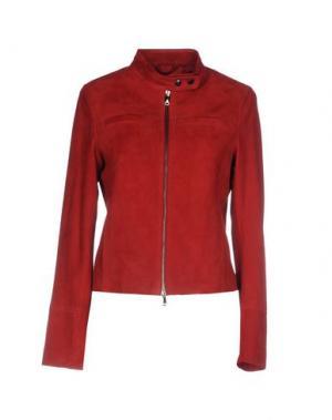 Куртка OLIVIERI. Цвет: красный