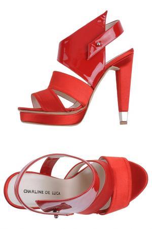 Босоножки на каблуках CHARLINE DE LUCA. Цвет: красный