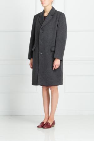 Шерстяное пальто Libertine. Цвет: серый