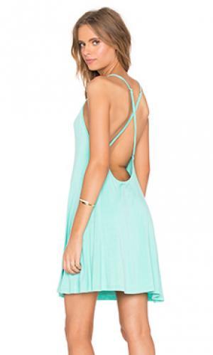 Мини платье cross back BLQ BASIQ. Цвет: сине-зеленый