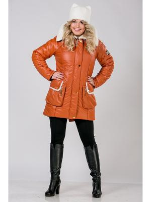 Куртка А Б Коллекция. Цвет: рыжий