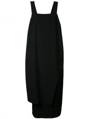 Свободное платье с асимметричным подолом Enföld. Цвет: чёрный