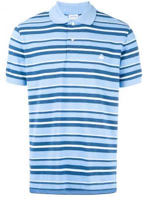 Рубашка-поло в полоску Brooks Brothers. Цвет: синий