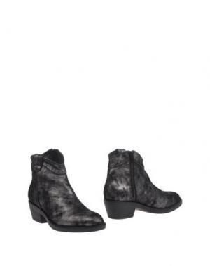 Полусапоги и высокие ботинки STOKTON. Цвет: свинцово-серый