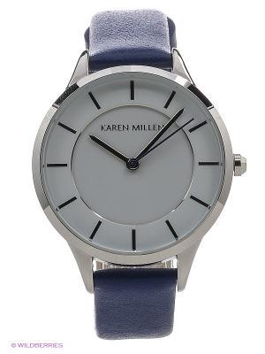 Часы KAREN MILLEN. Цвет: синий