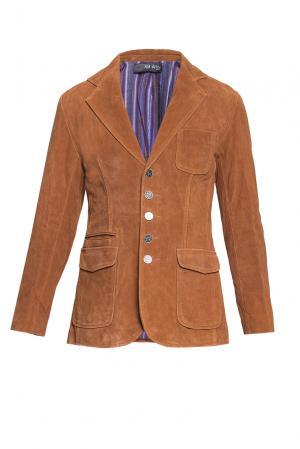Замшевый пиджак BE-184730 Von Dutch. Цвет: оранжевый