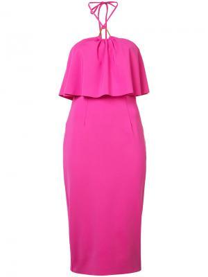 Двухслойное платье Trina Turk. Цвет: розовый и фиолетовый