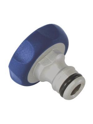 Штуцер резьбовой 19мм (3/4) внутренняя резьба, алюминий, TPR GREEN APPLE. Цвет: белый, синий