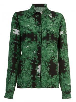 Рубашка с принтом Vitorino Campos. Цвет: зелёный