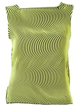 Топ с волнообразным гофрированным дизайном Issey Miyake. Цвет: жёлтый и оранжевый