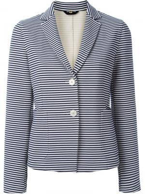 Полосатый пиджак Fay. Цвет: белый