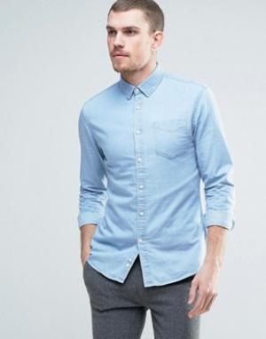 Celio Джинсовая рубашка. Цвет: синий
