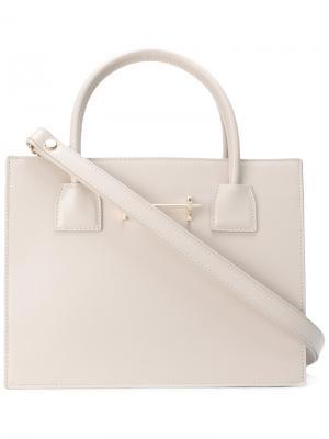 Мини сумка-тоут M2malletier. Цвет: телесный