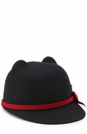 Шляпа с декором Monnalisa. Цвет: темно-синий