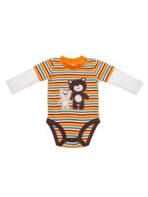 Боди для детей INBEBE. Цвет: оранжевый