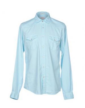 Джинсовая рубашка ROŸ ROGER'S. Цвет: небесно-голубой