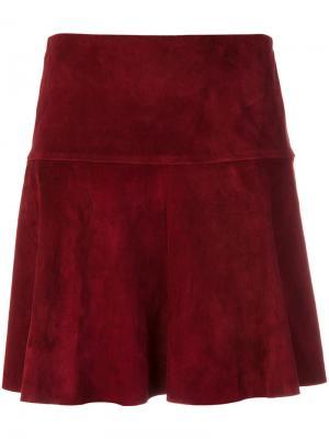 Замшевая мини-юбка Stouls. Цвет: красный
