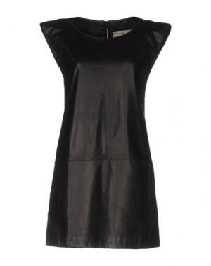 Короткое платье VINTAGE DE LUXE. Цвет: черный