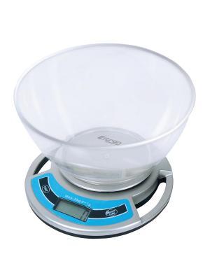 Весы кухонные с чашей ELTRON. Цвет: серый меланж