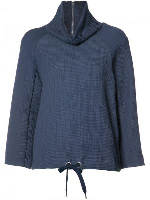 High neck sweatshirt Rodebjer. Цвет: синий