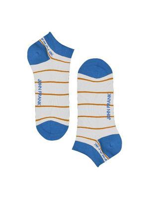 Носки мужские JOHN FRANK. Цвет: белый, голубой