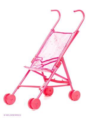Коляска для кукол Красотка 1Toy. Цвет: розовый