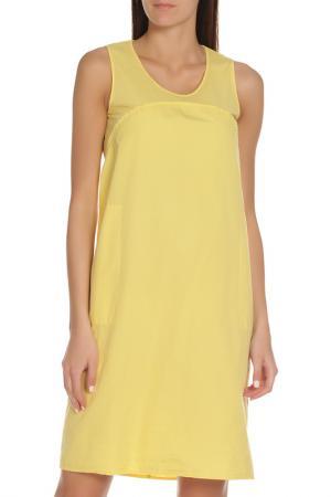 Свободное платье без рукавов EUROPEAN CULTURE. Цвет: желтый