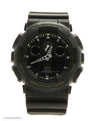 Часы G-Shock GA-100L-1A CASIO. Цвет: черный