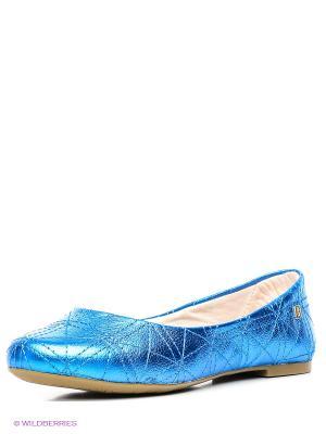 Балетки Bibi. Цвет: голубой