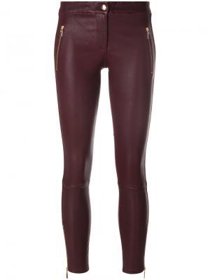Укороченные брюки с молнией Arma. Цвет: розовый и фиолетовый